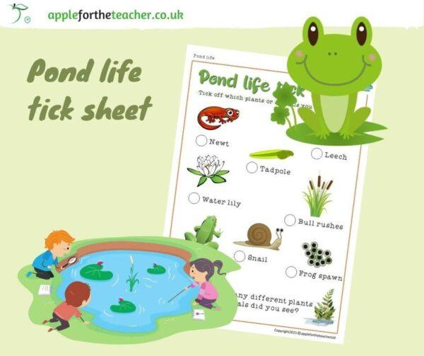 Tick Sheet Pond Life