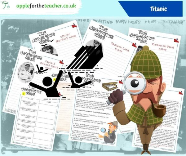 Titanic Detective Files comprehension activity