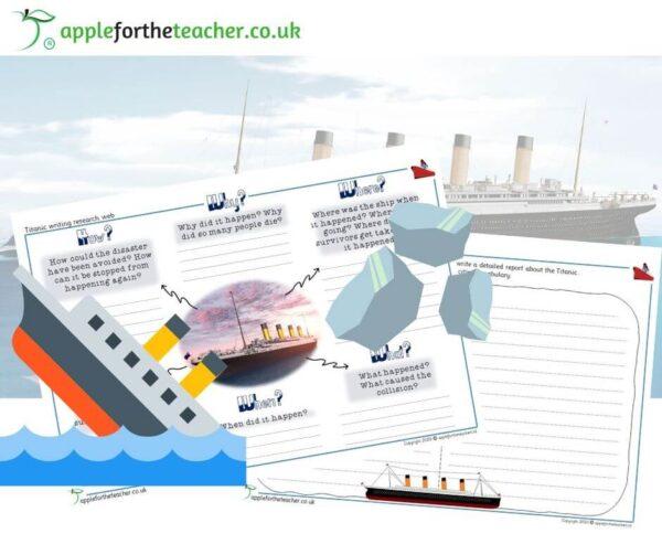 Titanic Writing Web Planner