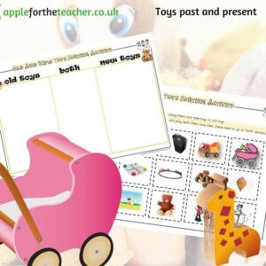 Toys past and present sorting activity