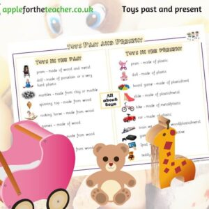 Toys past and present word mat