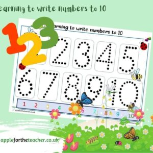 Trace numerals to 10