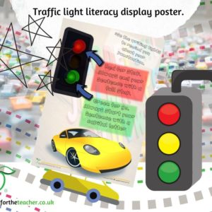 Traffic light poster full stops and capital letters