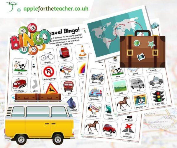 Travel Bingo Activity Free Download