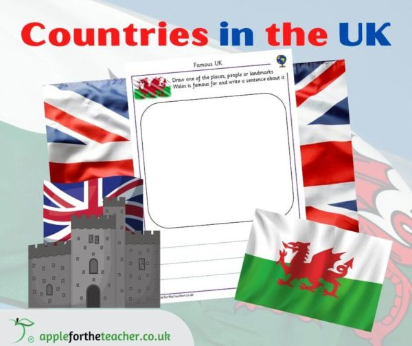UK Wales Describe and Write Activity