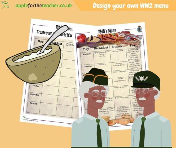 WW2 Create Your Own Menu