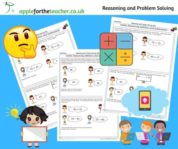addition and subtraction reasoning and problem solving