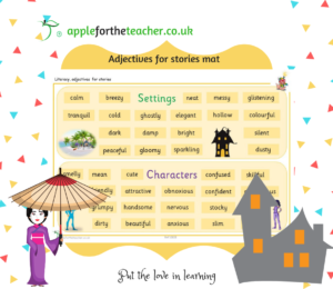 adjectives for stories mat