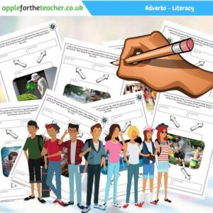adverb people sheets literacy