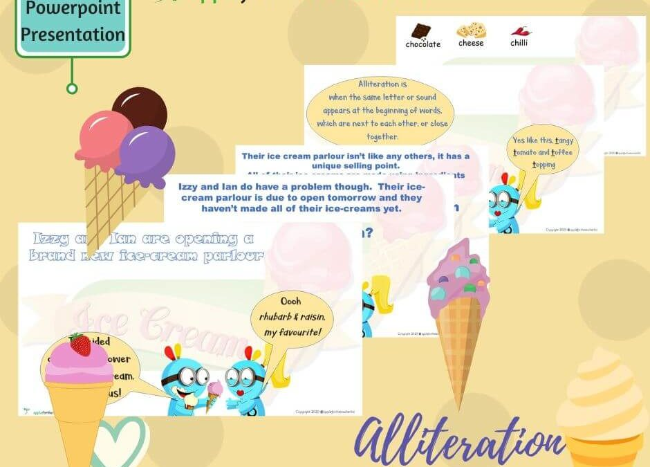 Alliteration Ice Cream Powerpoint Presentation KS1