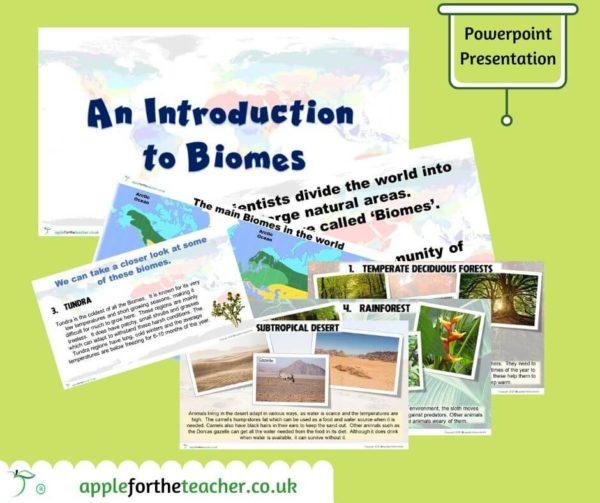 biomes powerpoint presentation KS2