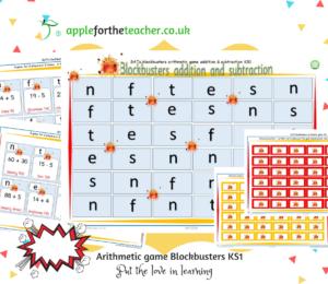 blockbusters arithmetic game