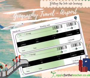 boarding pass passport to the world KS1