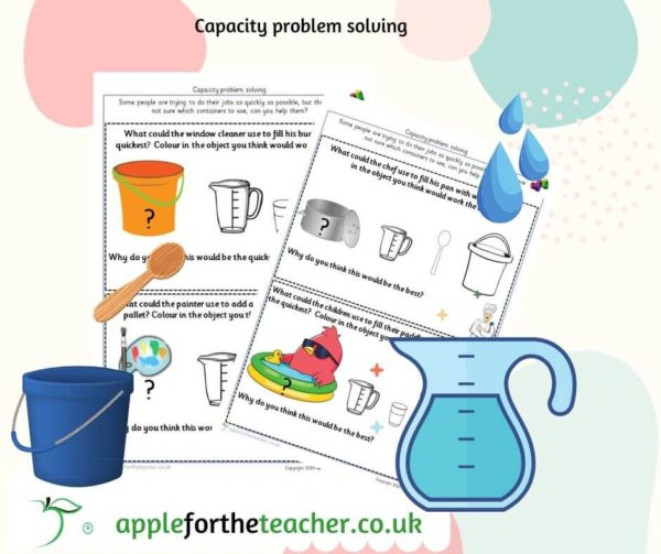 capacity problem solving EYFS KS1