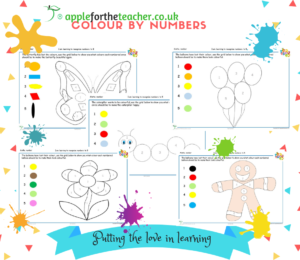 colour by numbers to 5