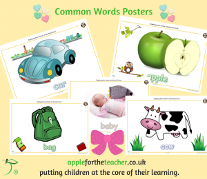 Common Words and Pictures Display A to B SEN EYFS
