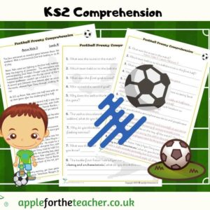 comprehension football frenzy KS2