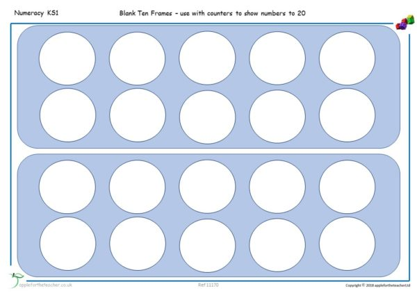 count to 20 tens frames templates Year 1 KS1 maths small steps