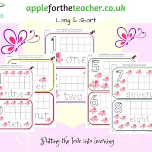 Count And Write Butterfly Cards Maths