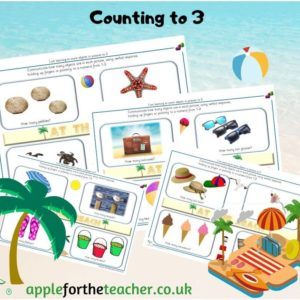 counting beach pictures to 3