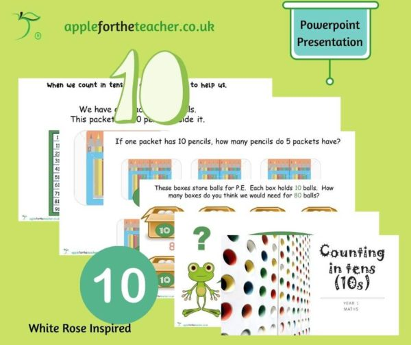 counting in tens presentation Year 1