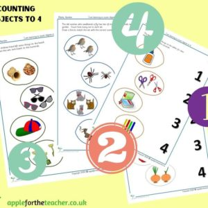 counting objects to 4