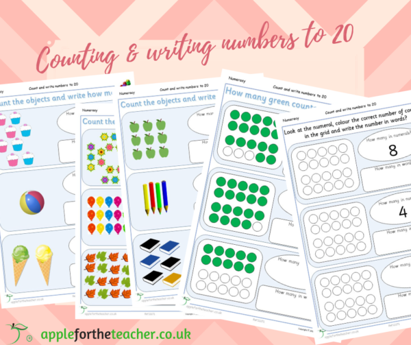 count & write numbers to 20