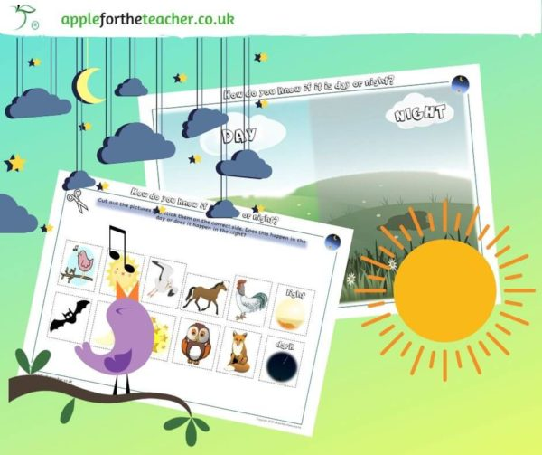 day and night animals sorting activity