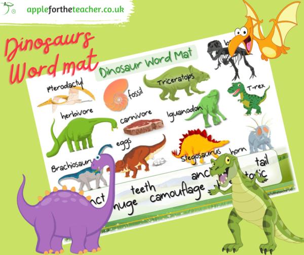 dinosaurs wordmat