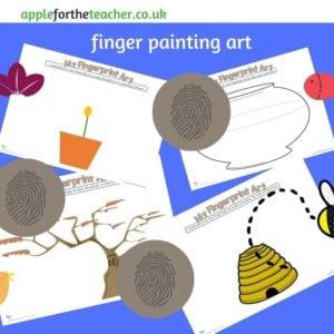 finger paint art