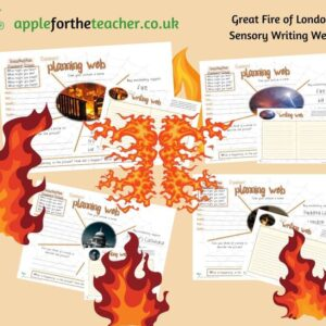 fire of london sensory writing webs