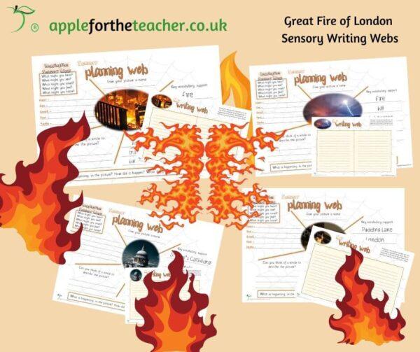fire of london sensory writing webs