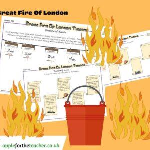 fire of london timeline worksheet