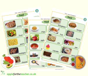 food visual picture word support