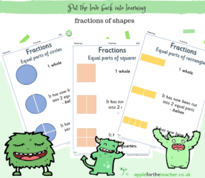fractions of shapes posters