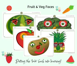 fruit and vegetable faces posters