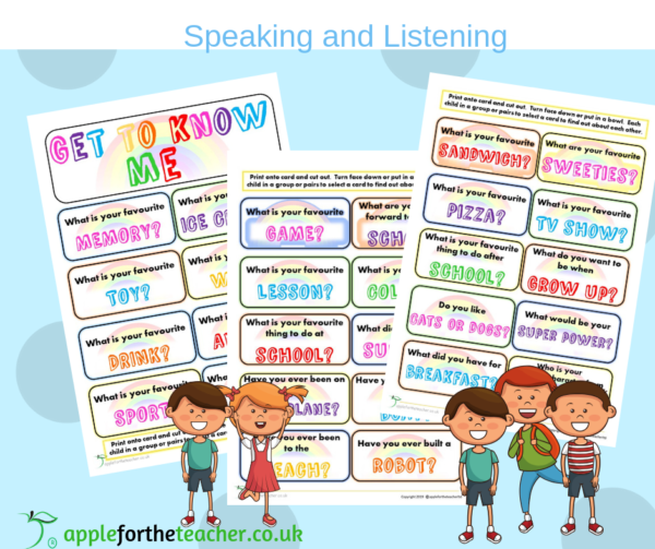 getting to know you game speaking and listening