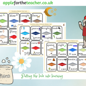 homophone alphabet flash cards