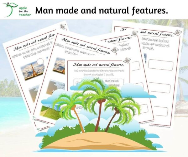 man made and natural features activity KS1