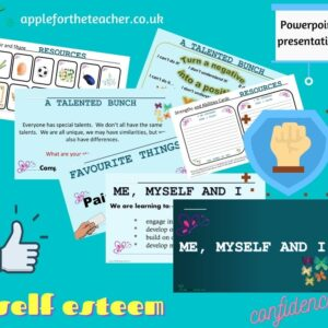 me myself and I self esteem confidence Powerpoint Activity