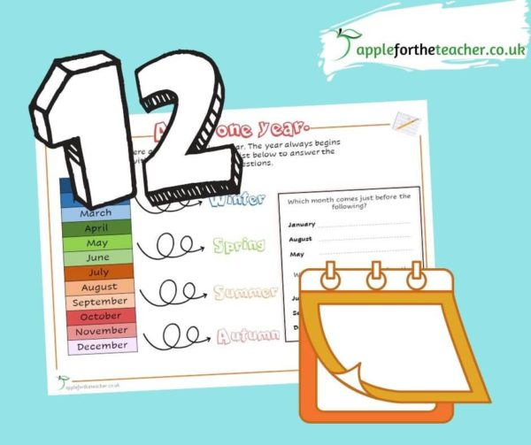 months of the year EYFS activity