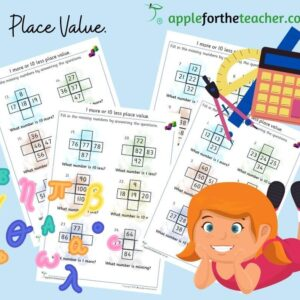 more and less place value Maths