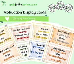 motivation display cards