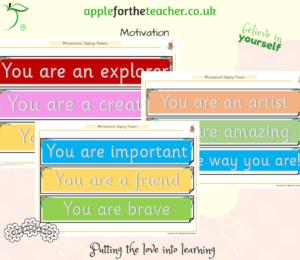 motivation display sentences