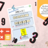 Multiply 4 digits by 1 digit grid method poster Year 5 Year 6 KS2