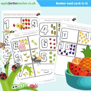 number bond cards to 10
