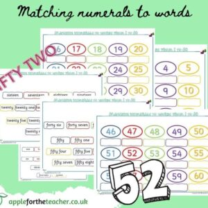 numeral to word matching up to 60