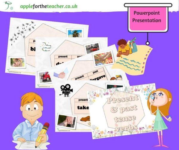 present past tense verbs powerpoint presentation