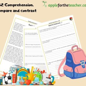 reading comprehension back to school KS2