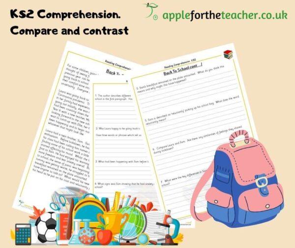 reading comprehension back to school KS2